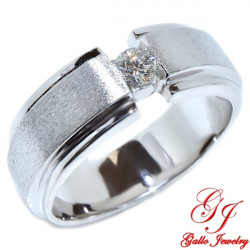 MWB00147. Men's Solitaire Diamond Wedding Band