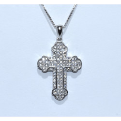 S0265 sterling silver crystal cross pendant sterling silver crystal cross pendant aloadofball Choice Image