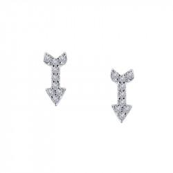 E0316CLP00. Lafonn Sterling Silver Simulated Arrow Stud Earrings