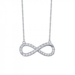 N2011CLP18. Lafonn Sterling Silver Simulated Infinity Pendant With Chain
