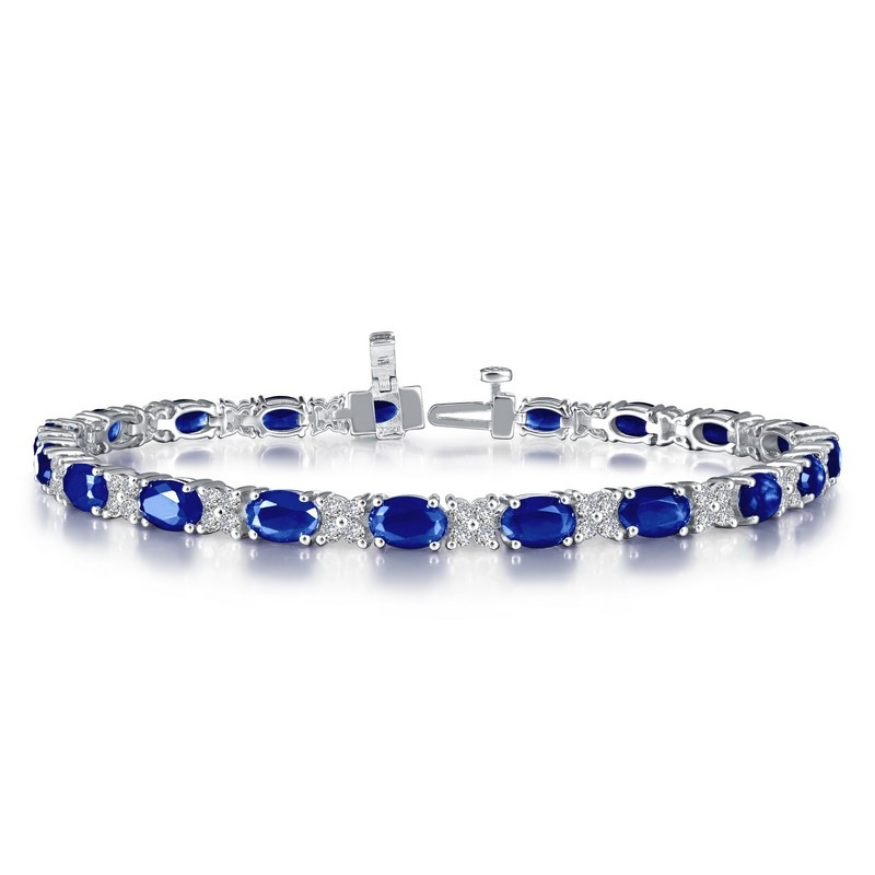 B0040CSP72. Lafonn Sterling Silver Simulated Diamond and Sapphire Bracelet