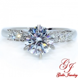 ENG00114. White Gold Diamond Princess Engagement Ring (Center Stone Sold Separately)