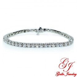 LB01419. White Gold Diamond Tennis Bracelet - 4.36ct