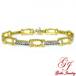 LB01815. Two-Tone Gold Diamond Woman's Bracelet