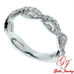WB02299. White Gold Diamond Infinity Wedding Ring