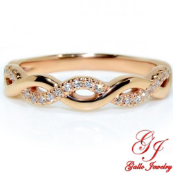 WB02472. Rose Gold Diamond Infinity Wedding Ring