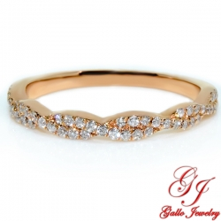 118245. Rose Gold Diamond Infinity Wedding Ring
