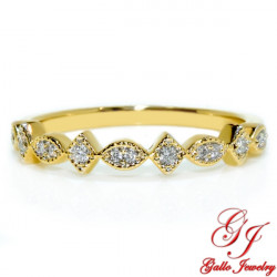 118554. Yellow Gold Diamond Art Deco Wedding Ring