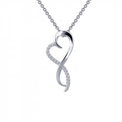 P0151CLP. Lafonn Sterling Silver Infinity Heart Pendant With A Chain