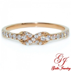 117832. Rose Gold Diamond Infinity Ring