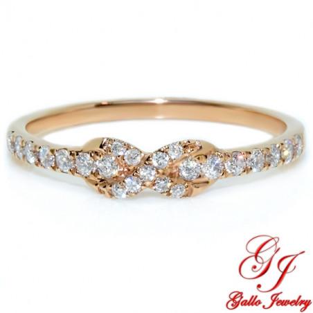 117832. Rose Gold Diamond Infinity Ring