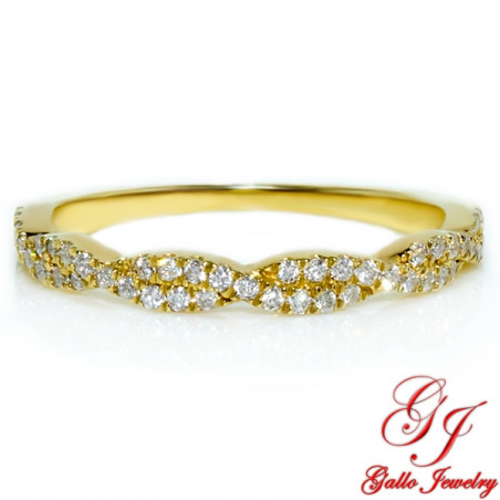 118243. 10kt Yellow Gold Diamond Infinity Wedding Ring