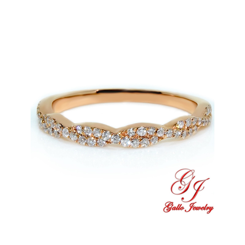 118768. 14kt Rose Gold Diamond Infinity Wedding Ring