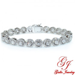 LB02642. Diamond Halo Elusion Tennis Bracelet - 6.00ct