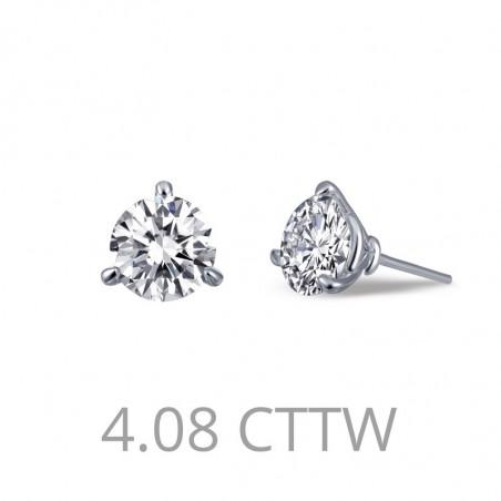 E0207CLP. Lafonn Sterling Silver Simulated Diamond Stud Earrings Martini Setting