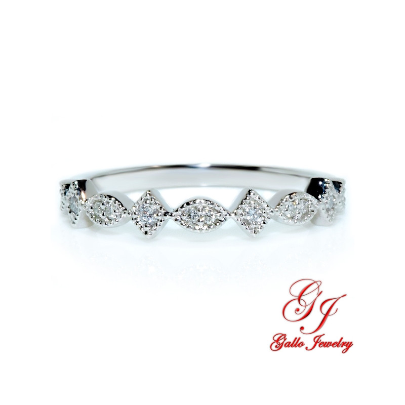 118555. Art Deco Diamond Wedding Band