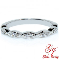 WB02483. Art Deco Diamond Wedding Band