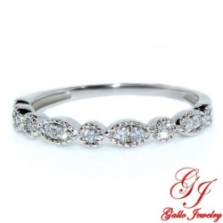 113303. Art Deco Diamond Wedding Band