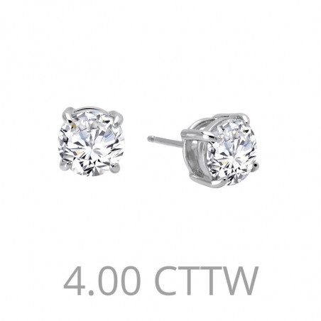 E0110CLP. Lafonn Sterling Silver Simulated Diamond Four Prong Stud Earrings