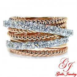 LR02656. Ladies Multi Row Diamond Fashion Ring