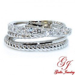 LR02702. Ladies Multi Row Diamond Fashion Ring