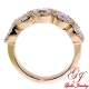 LR02705. Rose Gold Woman's Round Diamond Halo Ring