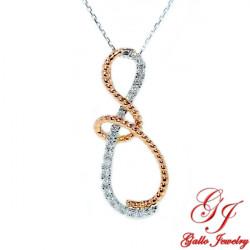 113507. Women's Fancy Infinity Diamond Pendant With Chain