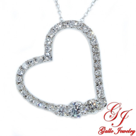 117861. Women's Diamond Heart Pendant With Chain