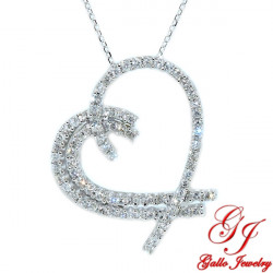 21697. Women's Diamond Heart Pendant With Chain