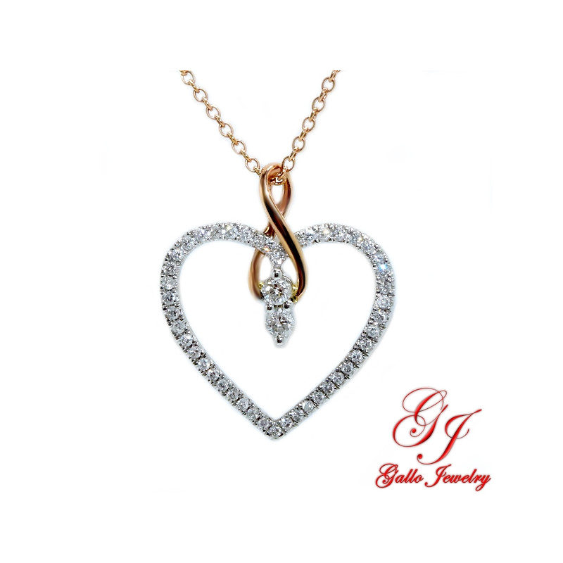116408. Women's Diamond Heart Pendant With Chain