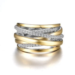 7R024CLT. Lafonn Sterling Silver Two-Tone Simulated Diamond Fashion Ring