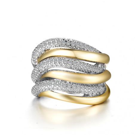 7R023CLT. Lafonn Sterling Silver Two-Tone Simulated Diamond Fashion Ring