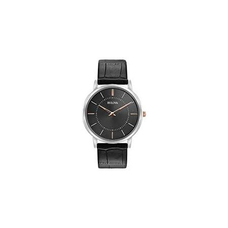 98A167 Men's Classic Ultra Slim Leather Watch