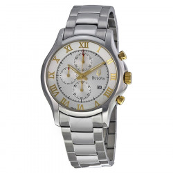 98B175 BULOVA Men's Dress Chronograph Silver Dial