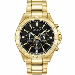 97A139 BULOVA Men's Classic Gold Tone Chronograph Watch