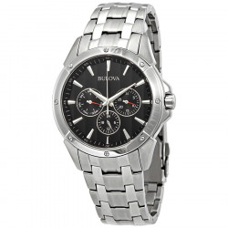 96C107 BULOVA STAINLESS STEEL WATCH