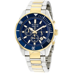 98B230 BULOVA Men's Marine Star Two Tone Stainless Steel Chronograph Watch