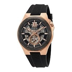98A177 BULOVA Men's Two Tone Automatic Skeleton Watch