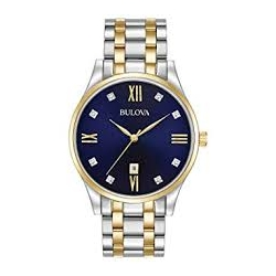 98D130 Men's Classic Diamond Two Tone Stainless Steel Watch
