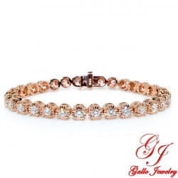 LB02490. Rose Gold Diamond Tennis Bracelet 3.60ct