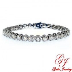 LB02493. White Gold Diamond Tennis Bracelet 3.60ct