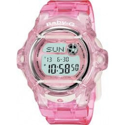 BG169R-4 Baby G Pink Resin Digital Ladies Watch