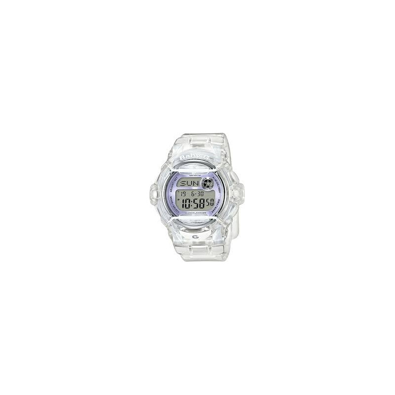 BG169R-7E Women's Clear Silicone Quartz Sport Watch