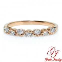 117848. Ladies Art Deco Wedding Band Rose Gold