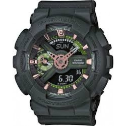 GMAS110CM-3A Women's Casio G-Shock S Green Analog-Digital Watch
