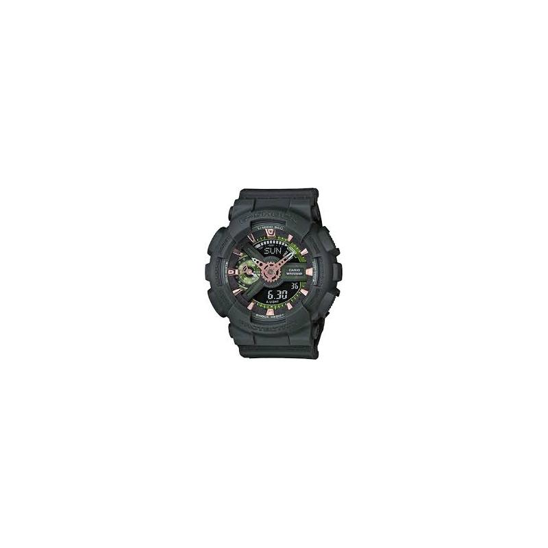GMAS110CM-3A Women's Casio G-Shock S Green Analog-Digital Watch