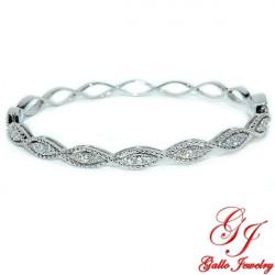 LB02633. Woman's Diamond Bangle Bracelet