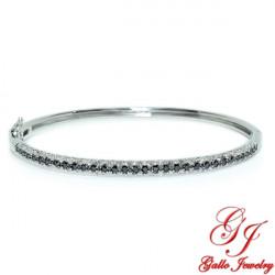 BR01740. Woman's Black & White Diamond Bracelet