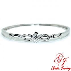 LB02207. Ladies Diamond Channel Setting Bangle Bracelet