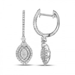 109466. Oval Shaped Dangle Earrings